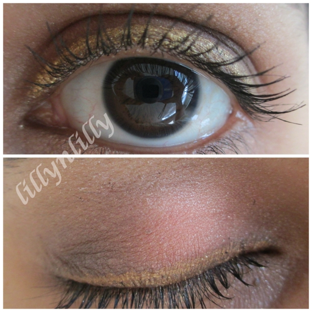 Eye look with the kit contents